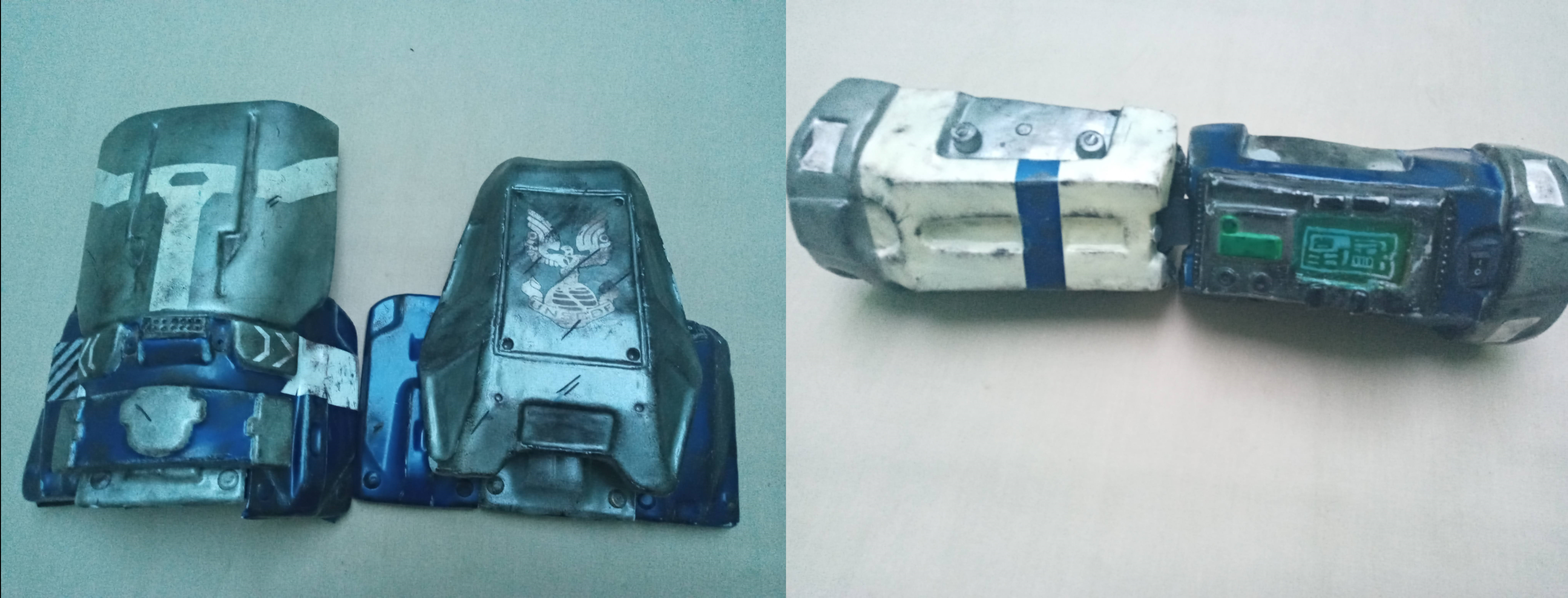 Parts of powered armor