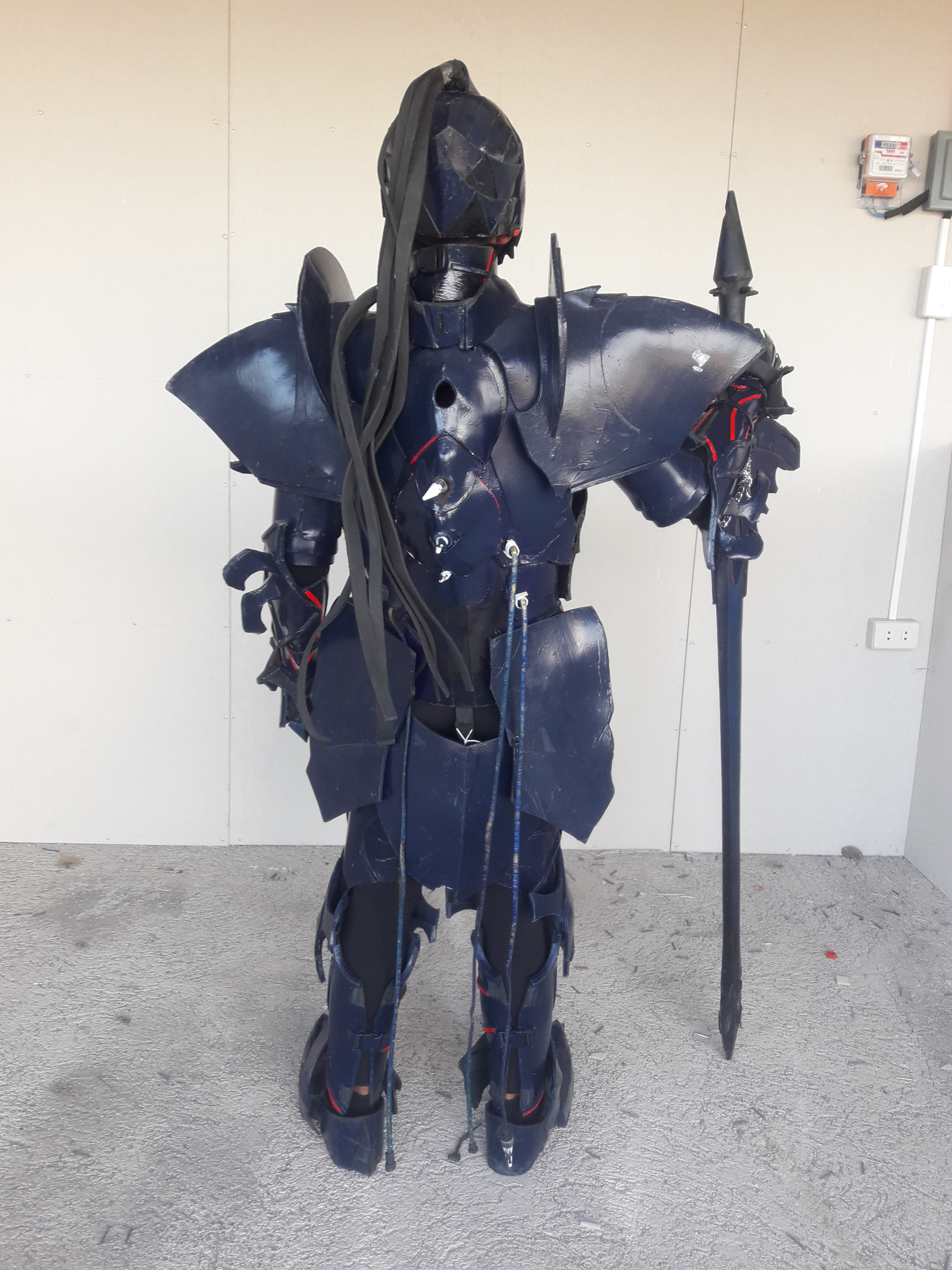 Man in black armor with sword
