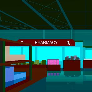 Grpahic image of a pharmacy interior